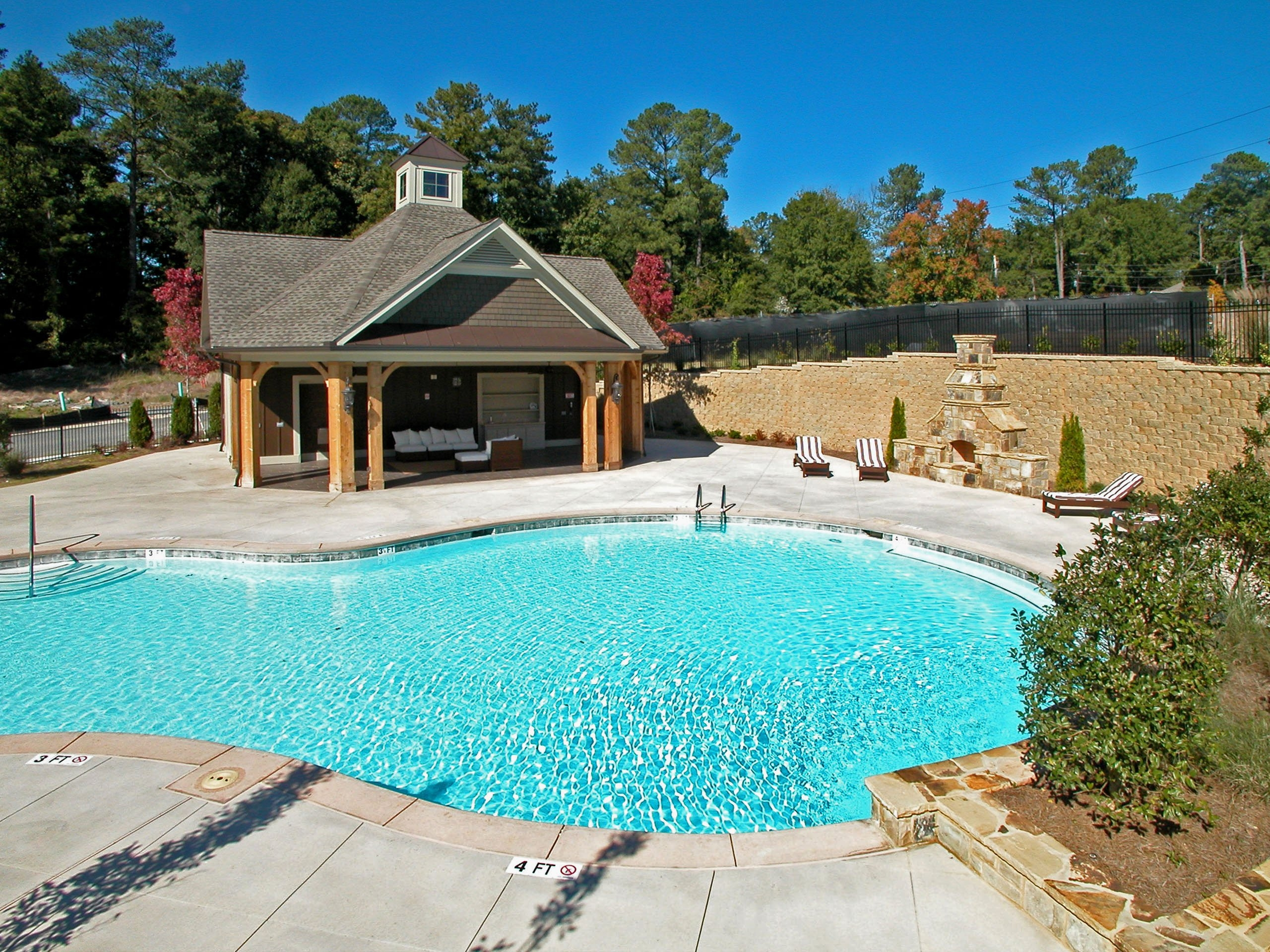Atlanta townhomes 2 4 tamra wade partners of re max for Pool cabana plans