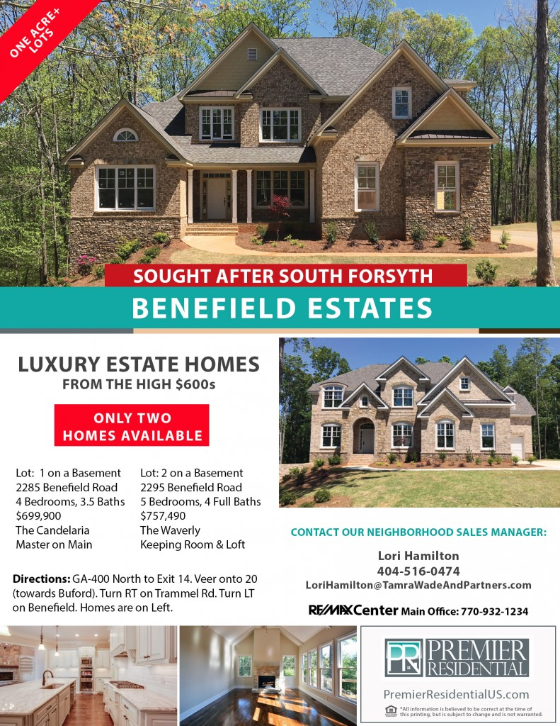 Benefield Estates Community Flyer with Inventory 160706
